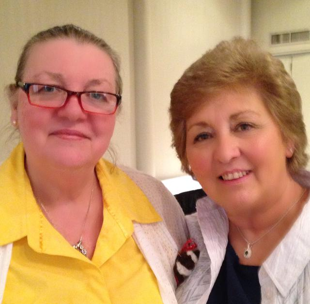 Sandra Knight and Sherry Ray of John J. Hart Chapter 2443 April 2015