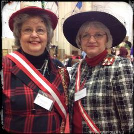 Frances Woodruff and Janice Strohm at Spring Board March 2015
